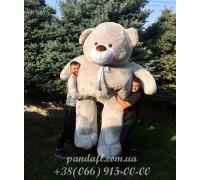 Мишка 300 см серый